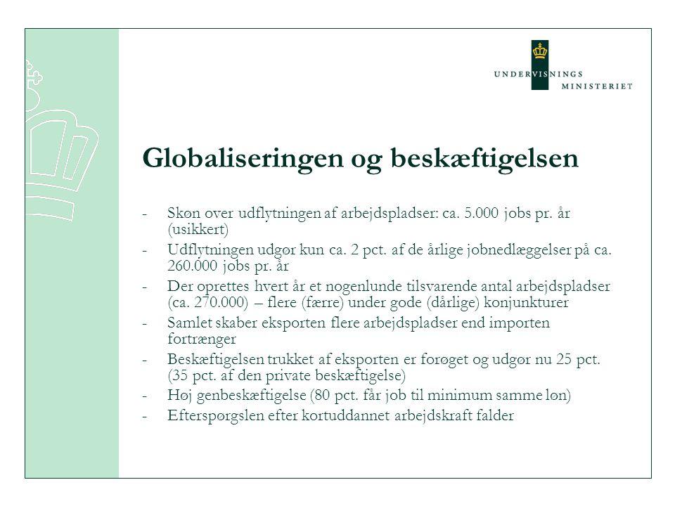 Globaliseringen og beskæftigelsen