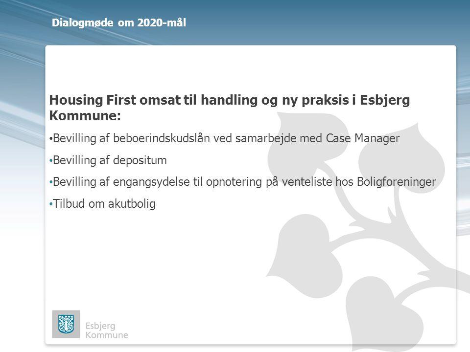 Housing First omsat til handling og ny praksis i Esbjerg Kommune: