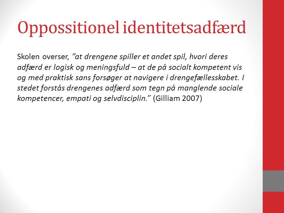 Oppossitionel identitetsadfærd
