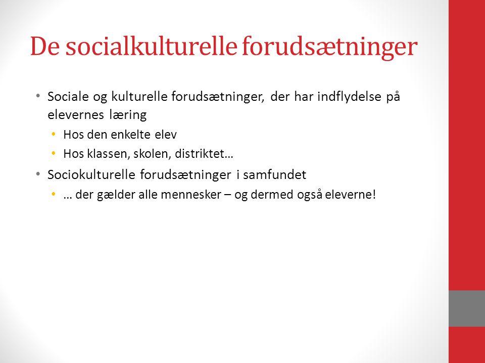 De socialkulturelle forudsætninger