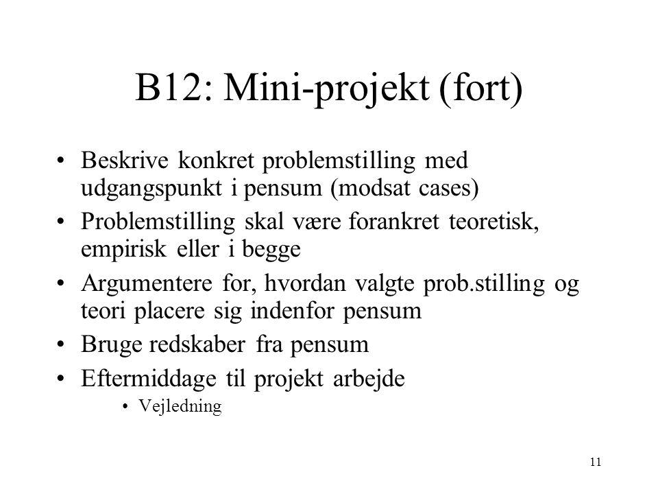 B12: Mini-projekt (fort)