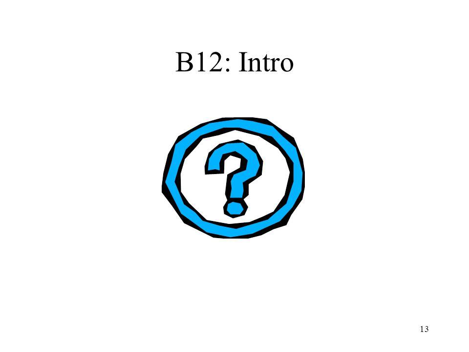 B12: Intro