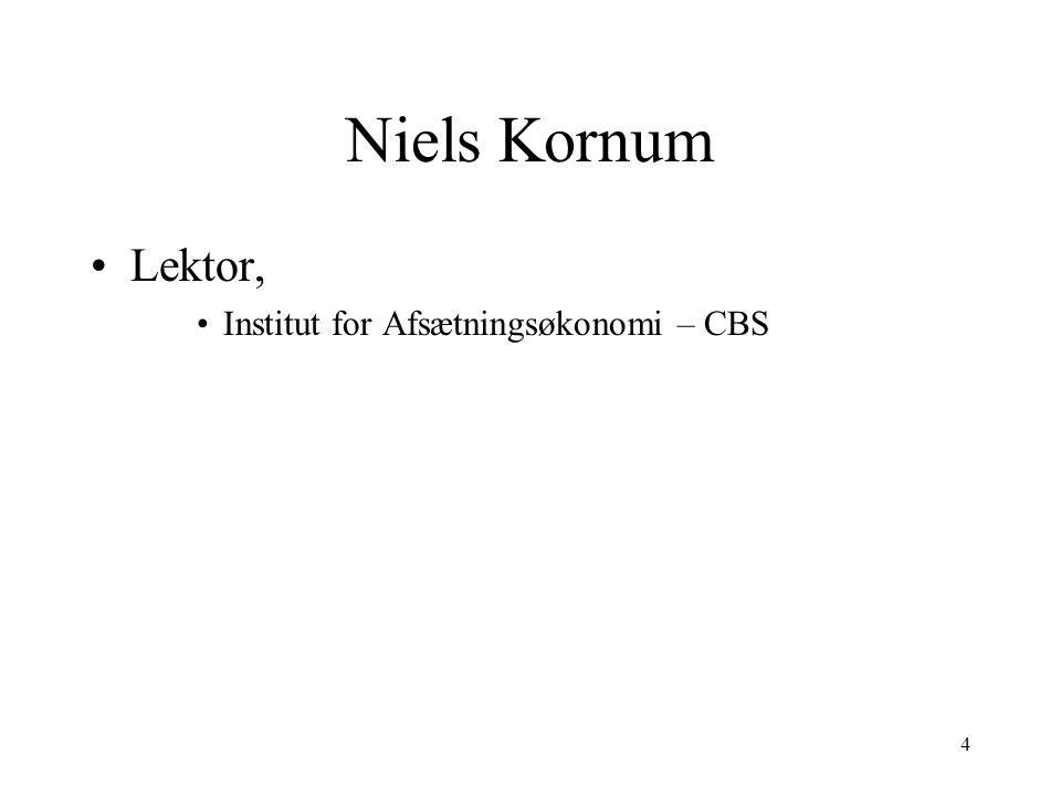 Niels Kornum Lektor, Institut for Afsætningsøkonomi – CBS