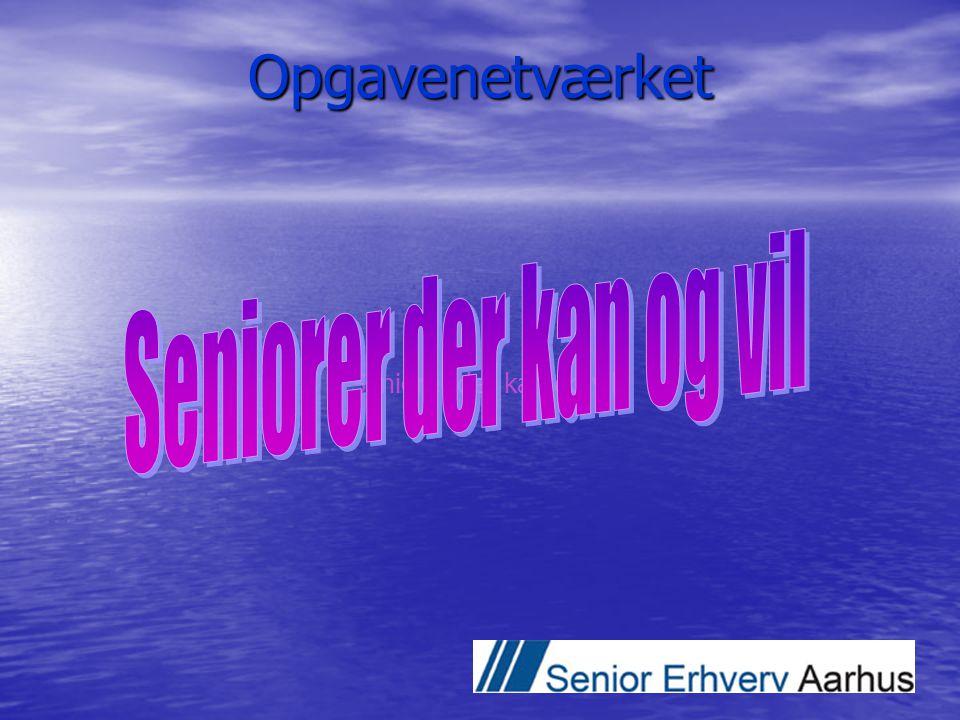 Opgavenetværket Seniorer der kan og vil Seniorer der kan og vil
