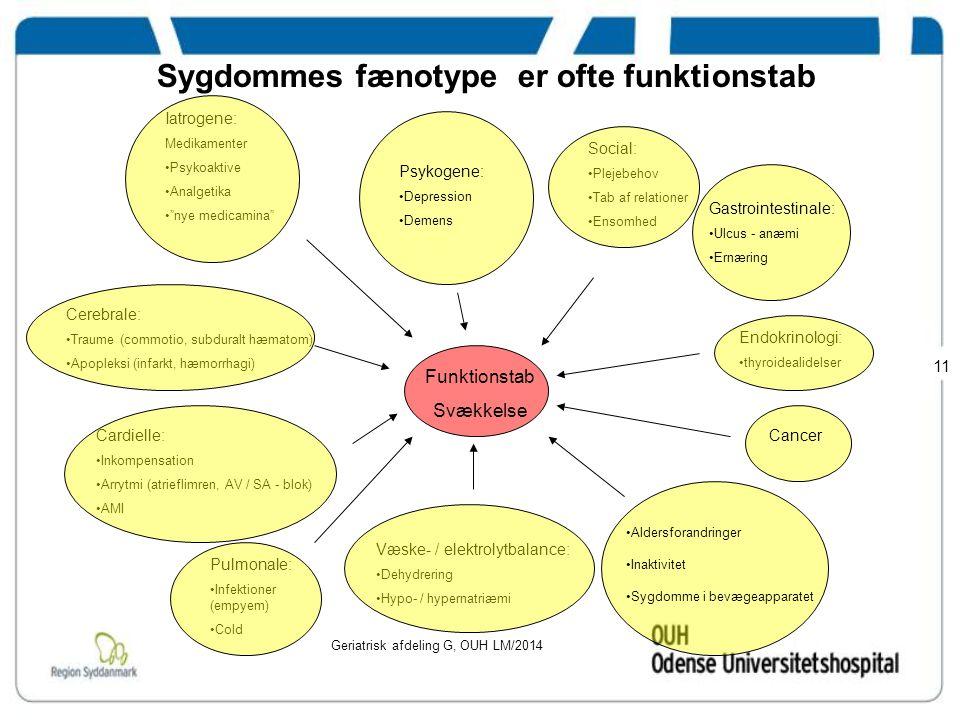 Sygdommes fænotype er ofte funktionstab