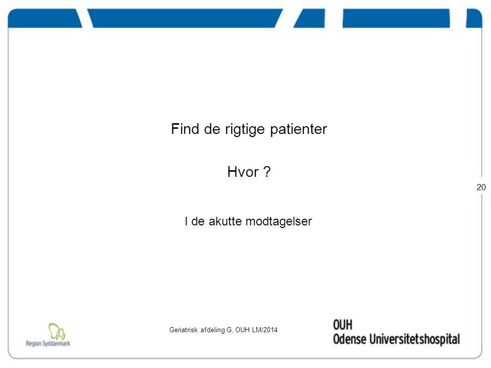 Find de rigtige patienter Hvor