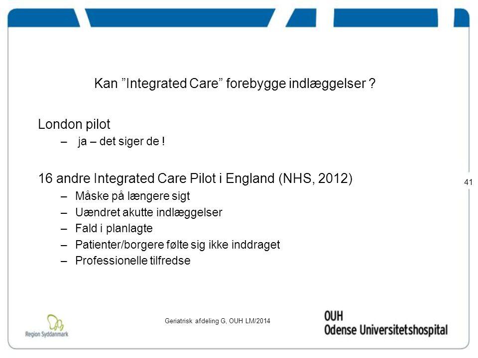 Kan Integrated Care forebygge indlæggelser