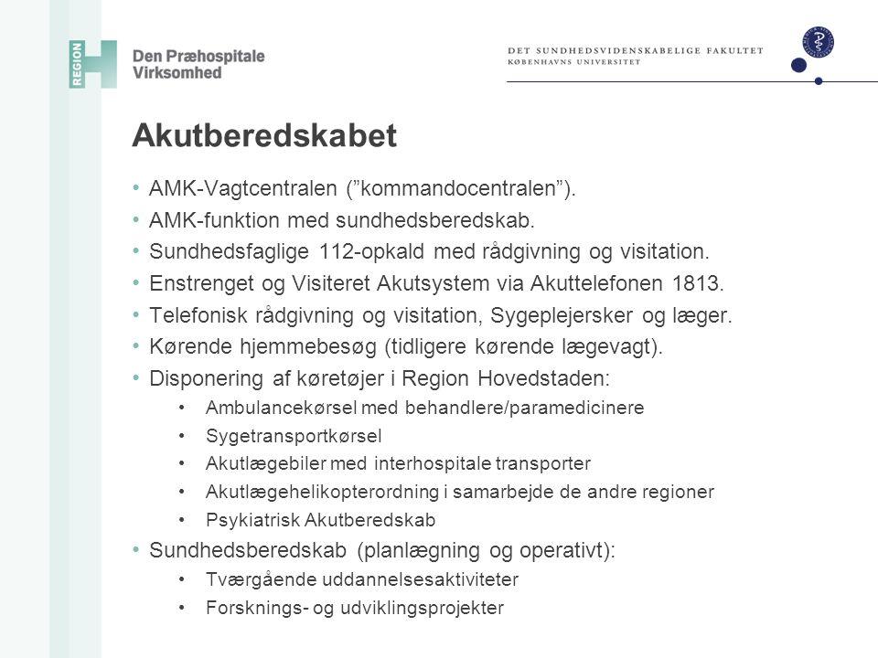 Akutberedskabet AMK-Vagtcentralen ( kommandocentralen ).