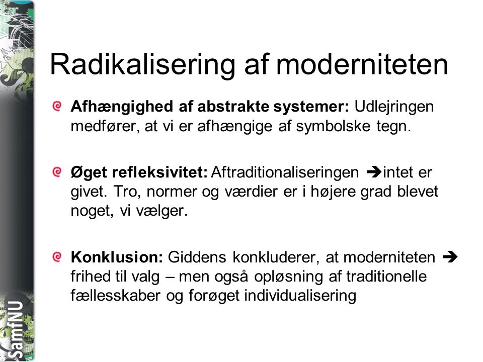 Radikalisering af moderniteten