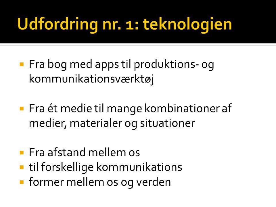 Udfordring nr. 1: teknologien