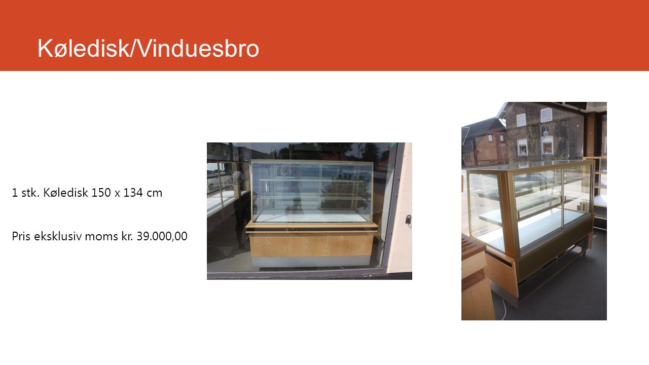 Køledisk/Vinduesbro 1 stk. Køledisk 150 x 134 cm