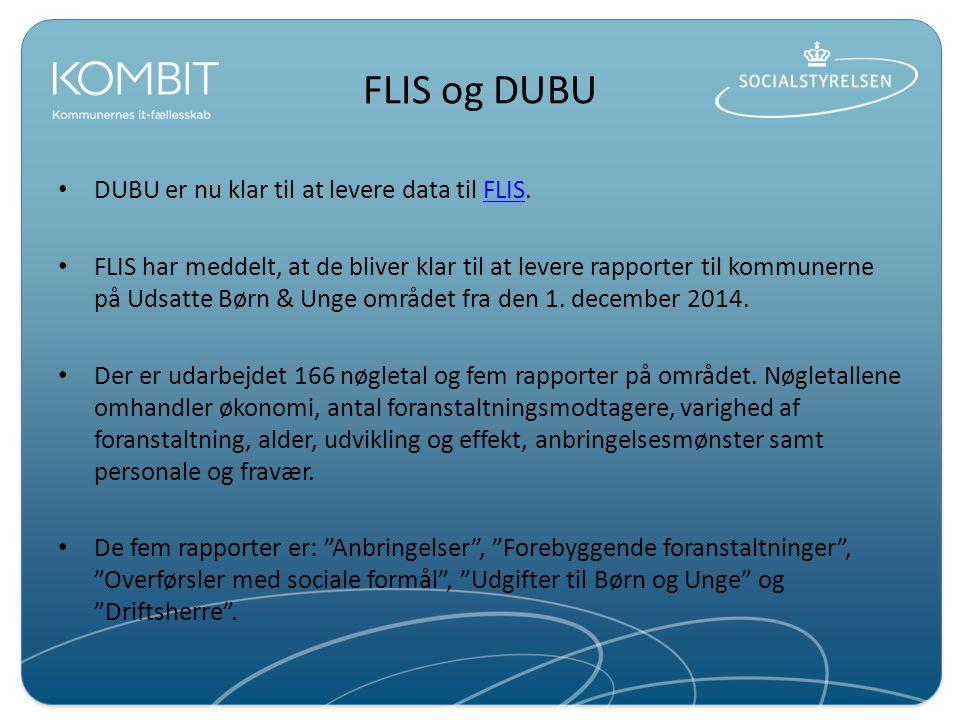 FLIS og DUBU DUBU er nu klar til at levere data til FLIS.