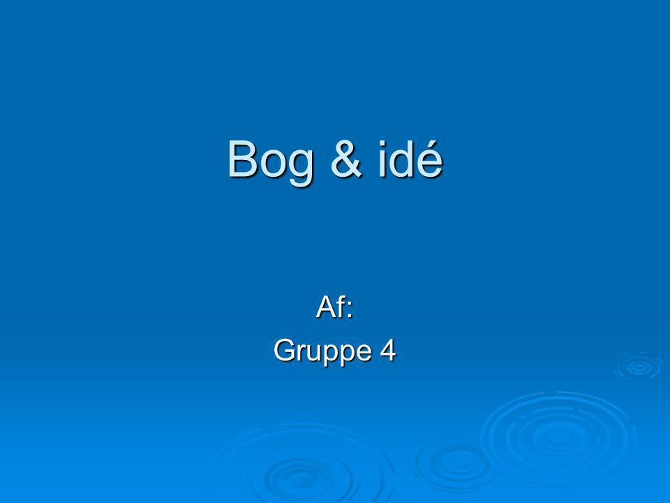 Bog & idé Af: Gruppe 4