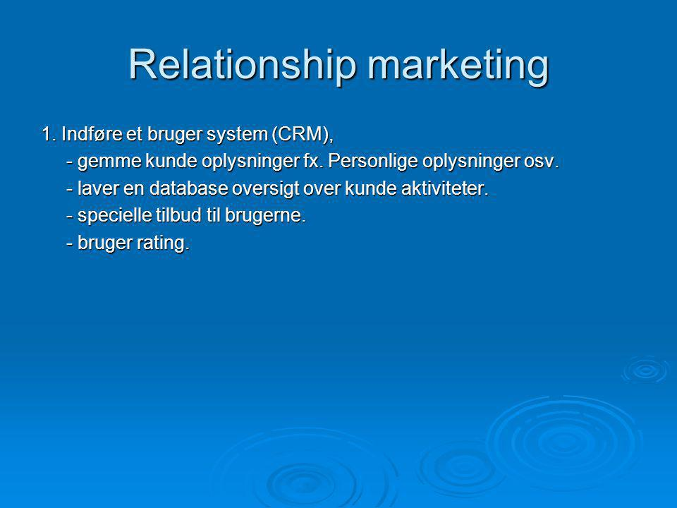Relationship marketing