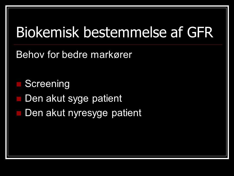 Biokemisk bestemmelse af GFR