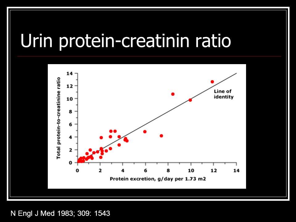 Urin protein-creatinin ratio