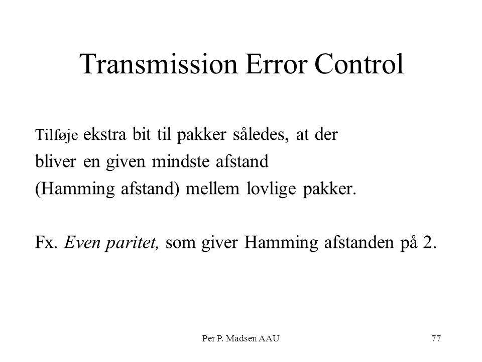 Transmission Error Control