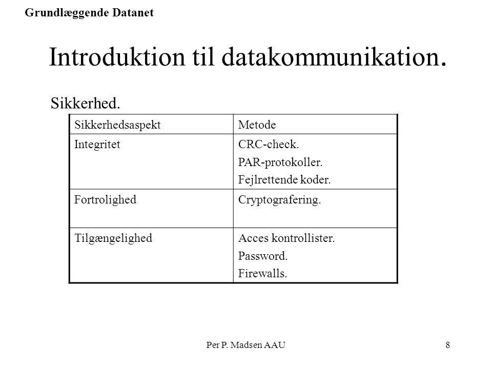 Introduktion til datakommunikation.