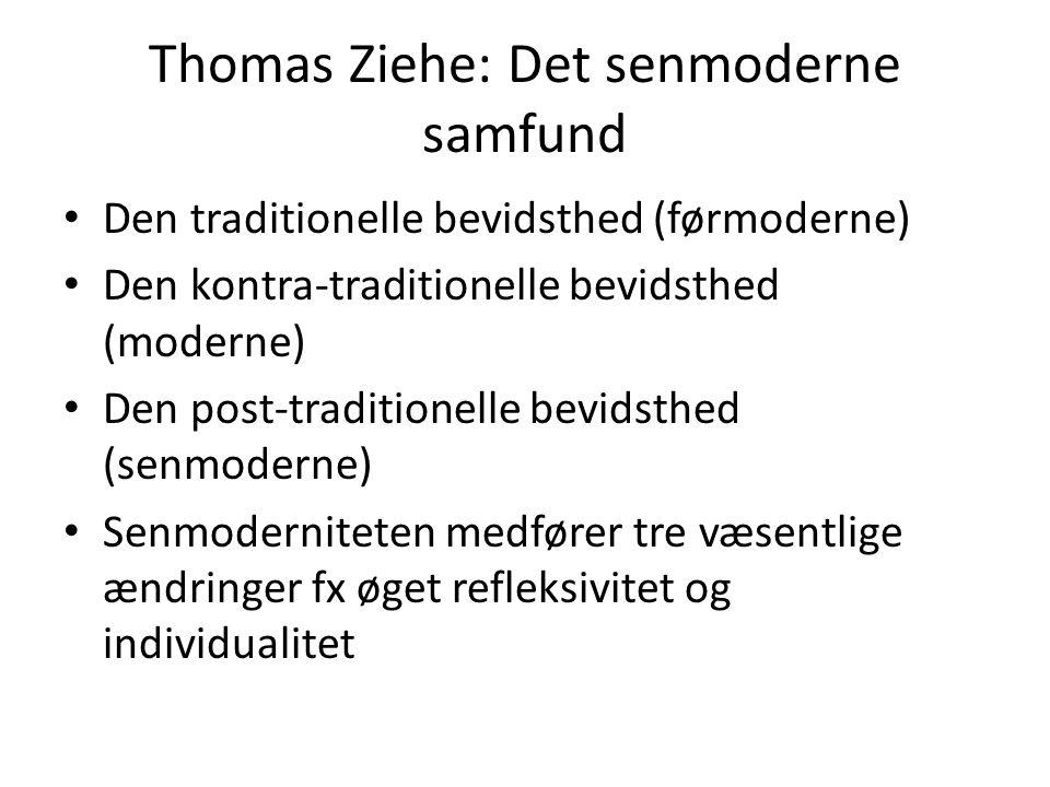 Thomas Ziehe: Det senmoderne samfund