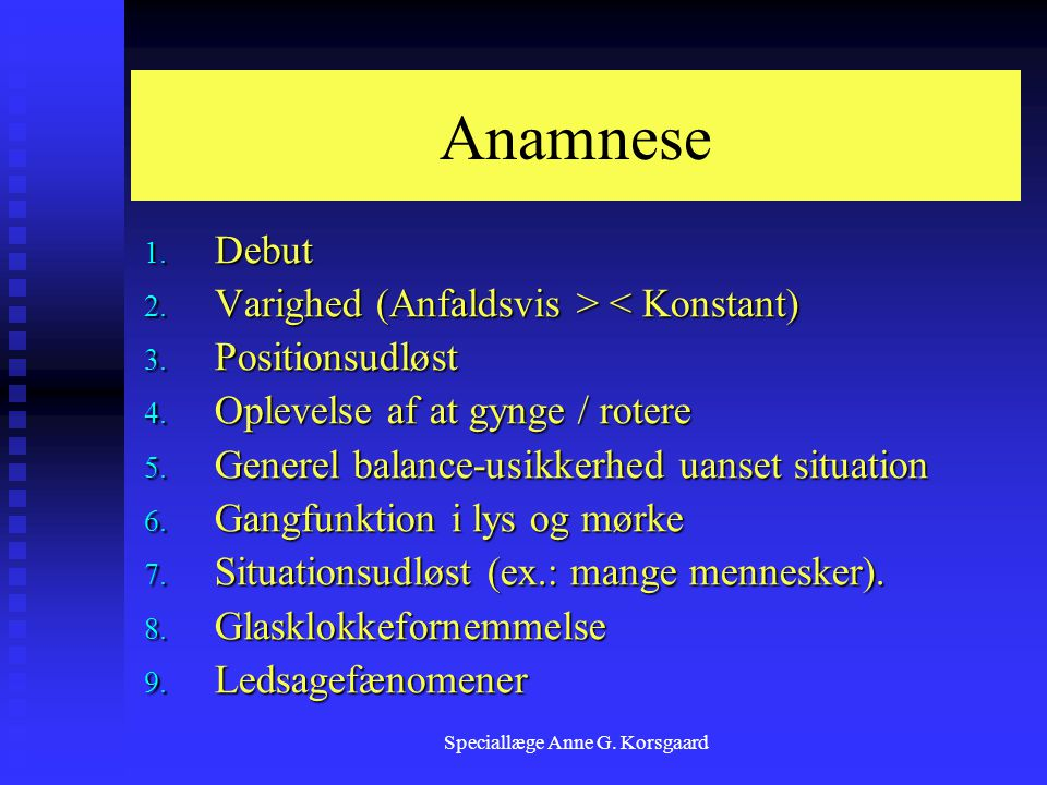 Speciallæge Anne G. Korsgaard