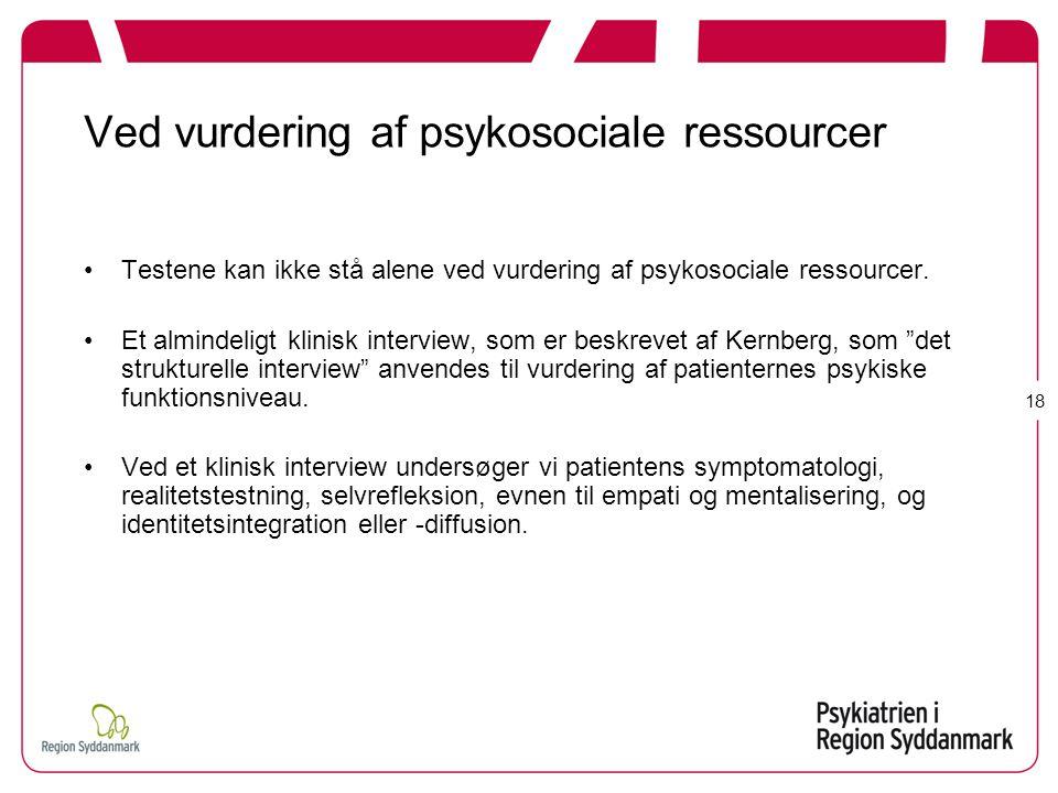 Ved vurdering af psykosociale ressourcer