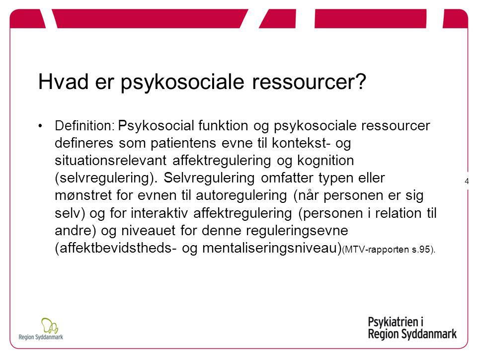 Hvad er psykosociale ressourcer
