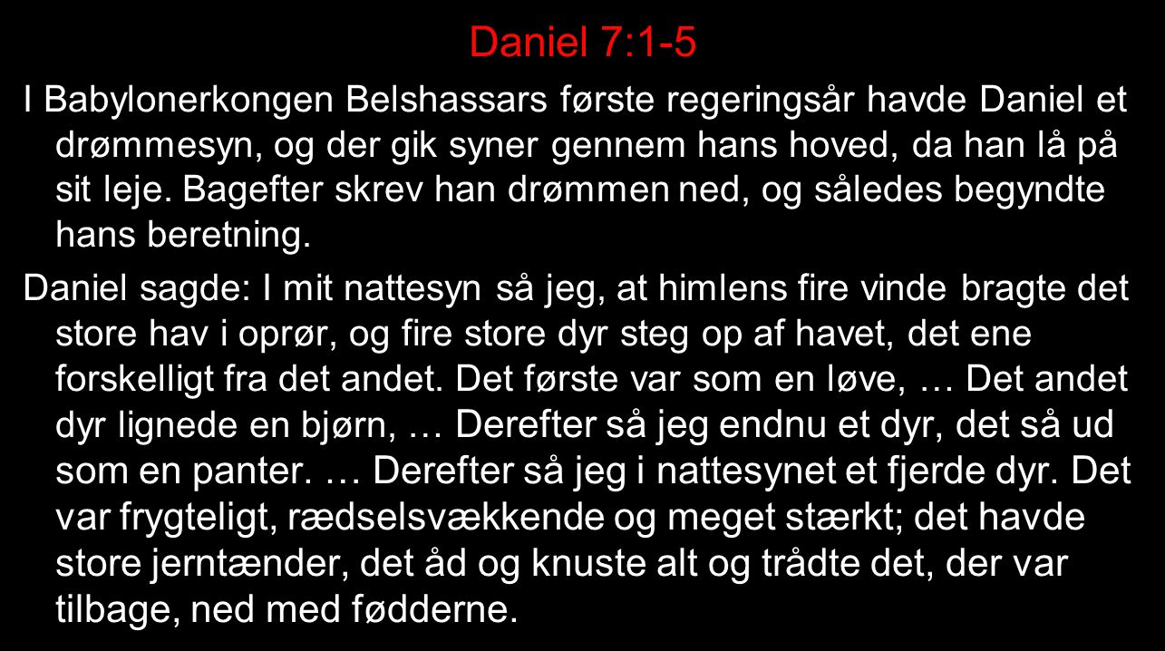 Daniel 7:1-5