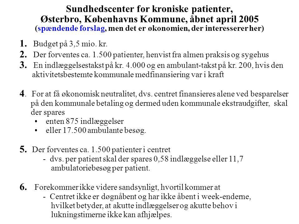 5. Der forventes ca. 1.500 patienter i centret