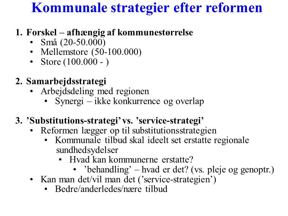 Kommunale strategier efter reformen