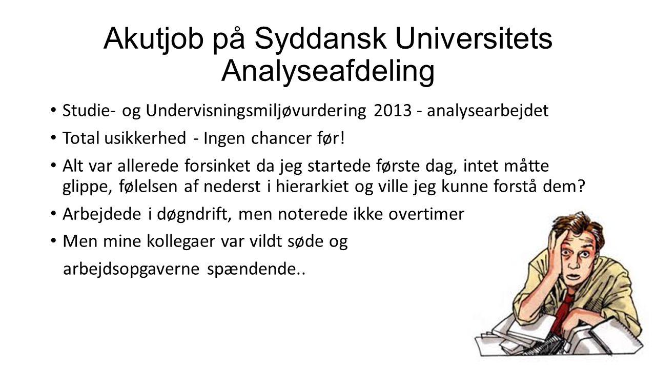 Akutjob på Syddansk Universitets Analyseafdeling