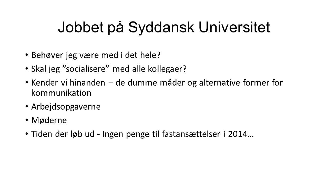 Jobbet på Syddansk Universitet