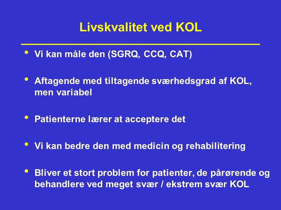 Livskvalitet ved KOL Vi kan måle den (SGRQ, CCQ, CAT)