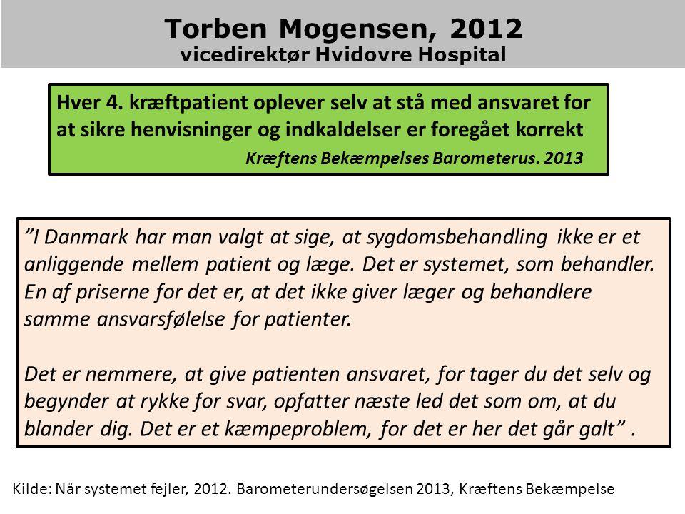 Torben Mogensen, 2012 vicedirektør Hvidovre Hospital