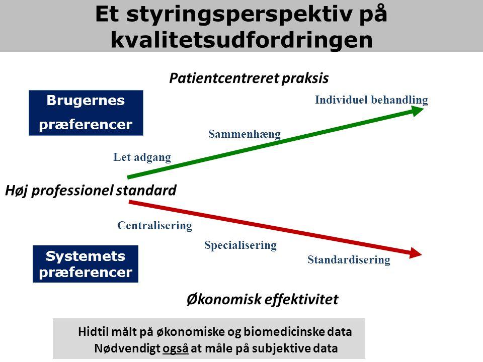 Et styringsperspektiv på kvalitetsudfordringen Systemets præferencer