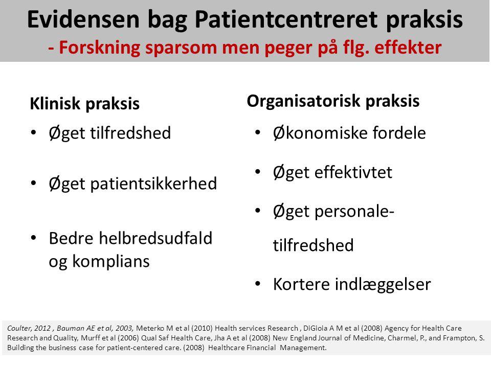 Patientcentrering - Effekter