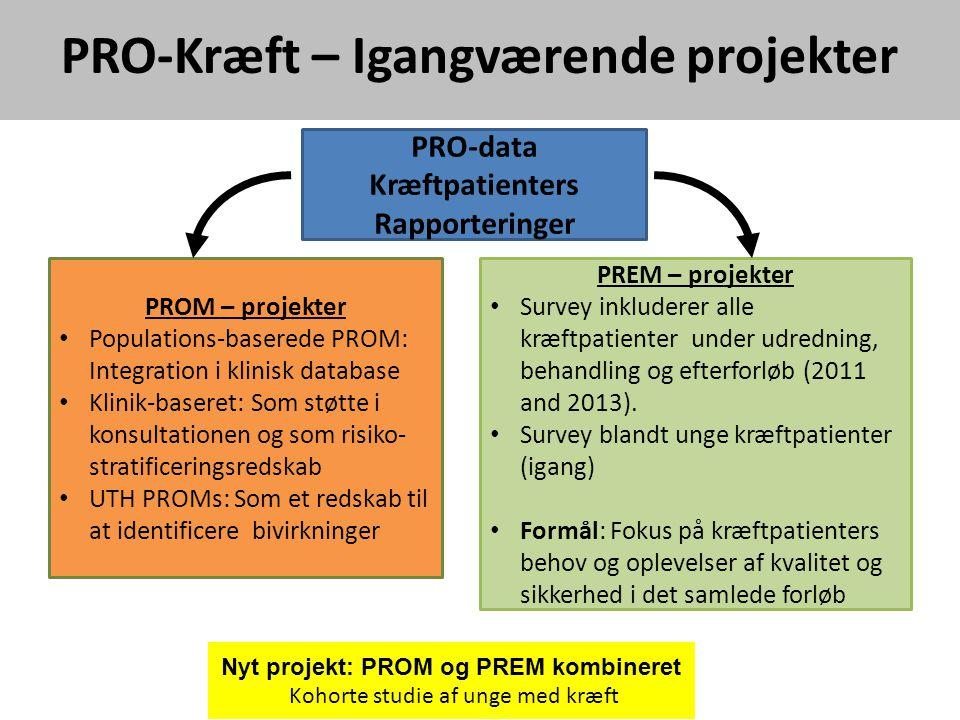 PRO-Kræft – Igangværende projekter