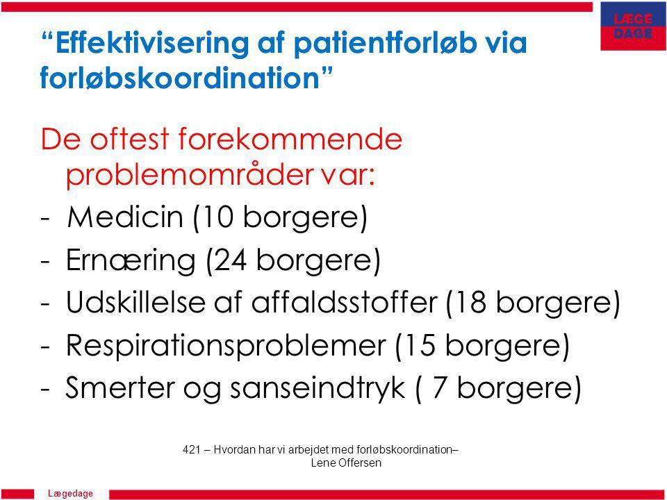 Effektivisering af patientforløb via forløbskoordination