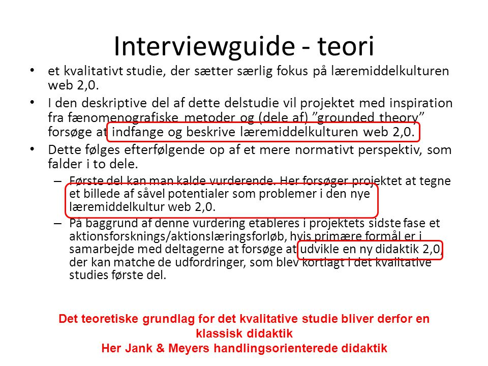 Interviewguide - teori