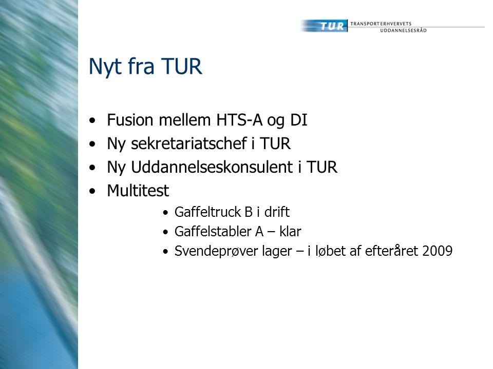 Nyt fra TUR Fusion mellem HTS-A og DI Ny sekretariatschef i TUR