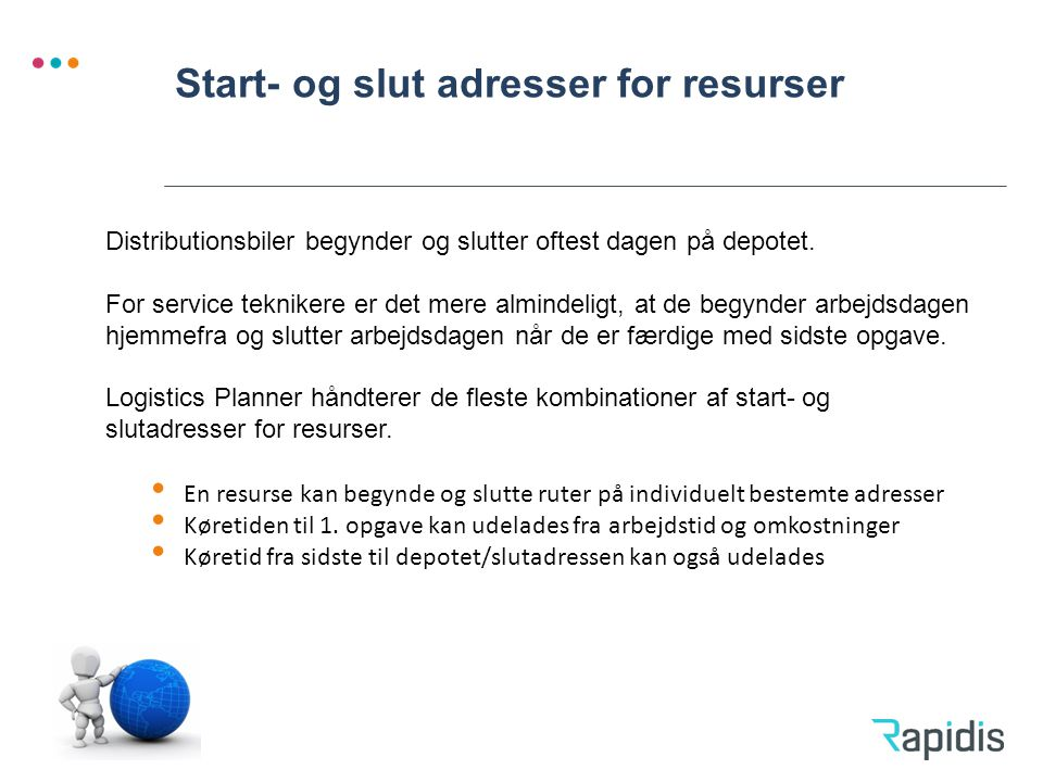 Start- og slut adresser for resurser