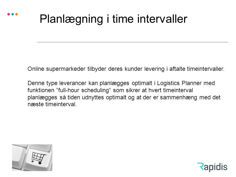 Planlægning i time intervaller
