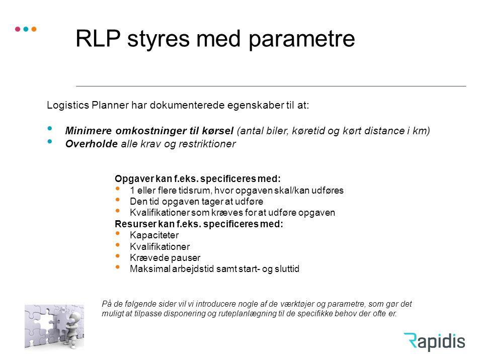 RLP styres med parametre