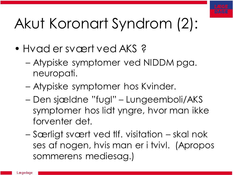 lungeemboli symptomer