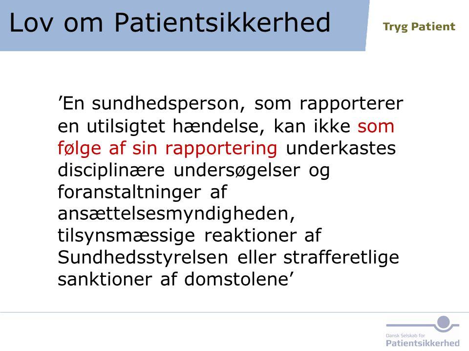 Lov om Patientsikkerhed
