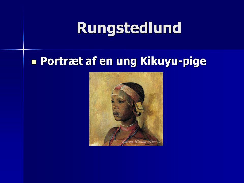 Rungstedlund Portræt af en ung Kikuyu-pige