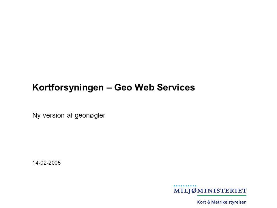 Kortforsyningen – Geo Web Services