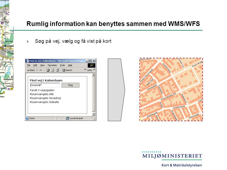 Rumlig information kan benyttes sammen med WMS/WFS