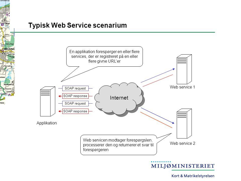 Typisk Web Service scenarium