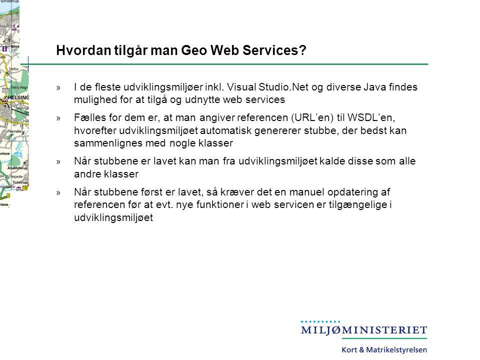 Hvordan tilgår man Geo Web Services