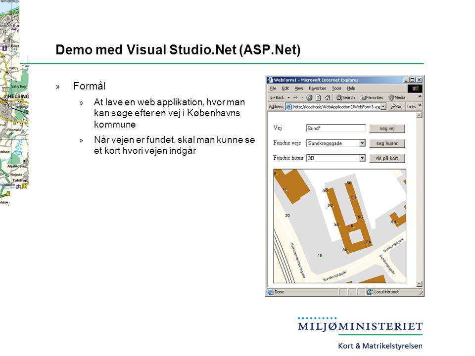 Demo med Visual Studio.Net (ASP.Net)